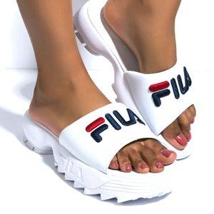 Fila Disruptor Bold Women's White Sandals Slides